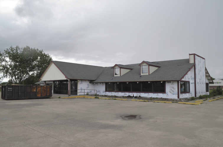 -Messenger photo by Bill Shea  The former Golden Corral restaurant at 20 N. 29th St. is being remodeled and expanded to house Active Health Chiropratic, Anytime Fitness and CrossFit Fort Dodge. The work is expected to be done by Oct. 1.
