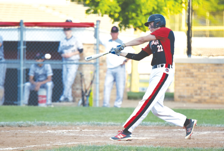 -Messenger photo by Britt Kudla Tyrnan Lara of Fort Dodge connects for a single against Clinton on Friday