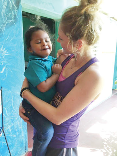Submitted photo  Lexi Astor, a Northern Iowa volleyball player and Fort Dodge Senior High graduate, visited Nicaragua with her Panther teammates earlier this month for the program's overseas trip.