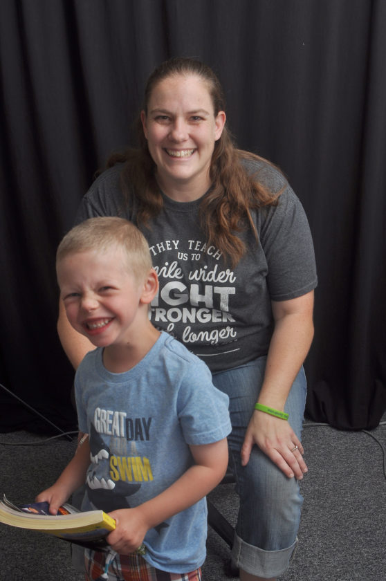 -Messenger photo by Joe Sutter  Amber Gambill and her son, Brecken, show off their smiles. Brecken Gambill was born with Williams syndrome. Amber Gambill has organized the first Fort Dodge Walk for Williams Syndrome, which will be held June 25 at John F. Kennedy Memorial Park.