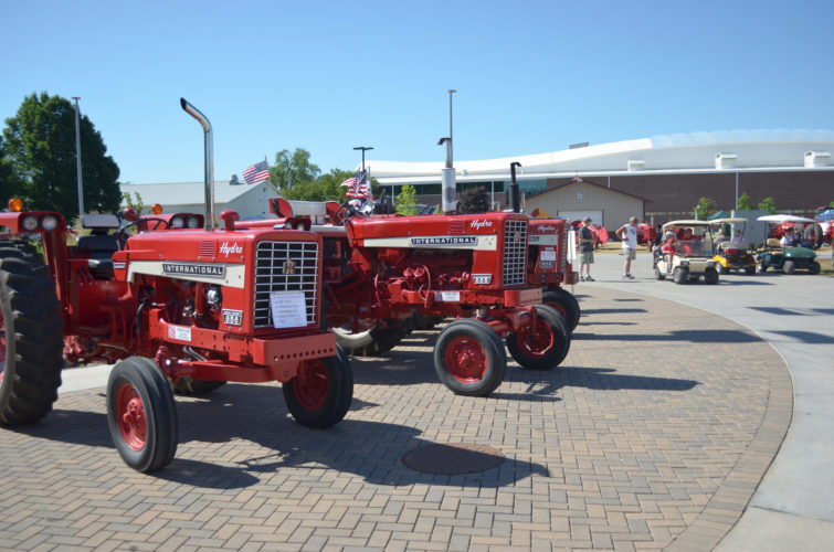 -Messenger photo by Kriss Nelson THE 28TH ANNUAL RED POWER ROUND UP was held June 15-17 at the Iowa State Fairgrounds. International Harvester tractors and other tractors affiliated with that brand were showcased during the event.
