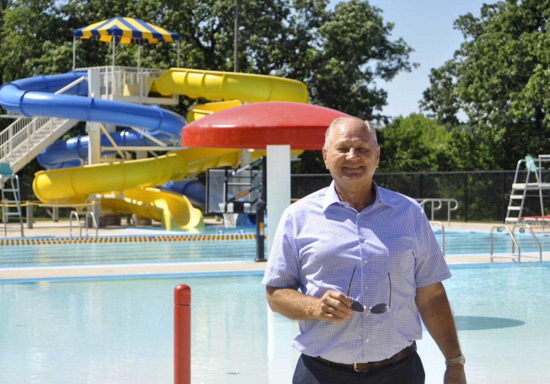 -Messenger photo by Hailey Brueschke   The Algona Pool was one of the first improvements Keuck made as the Mayor, it also introduced the Optional Local Sales Tax which helped pay for it.