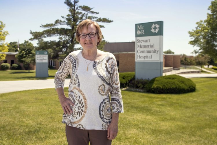 "-Messenger photo by Darcy Dougherty Maulsby  Deb Lightner, of Lohrville, recently retired from the board of Stewart Memorial Community Hospital in Lake City. ""I never view community service as a chore,"" she said."