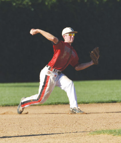 -Messenger photo by Britt Kudla Bryer Nelson of Fort Dodge makes a play against Ankeny on Wednesday