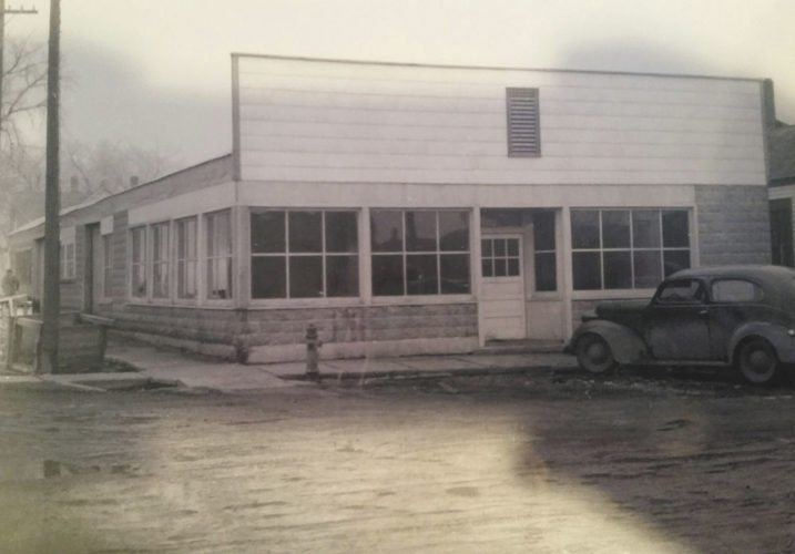 -Submitted photo  In 1949, the J.B. Mertz store was moved to 17 S. Broadway, where Community Lumber Inc. is now located.