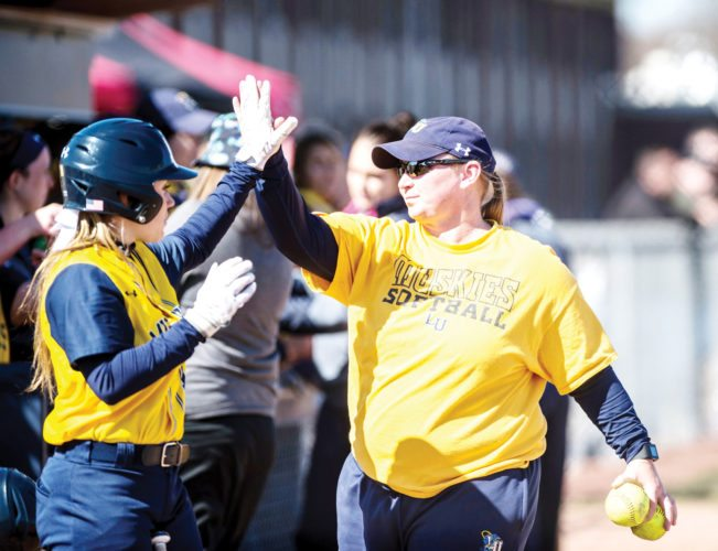 Submitted photos/Lakeland University Sports Information  Fort Dodge Senior High graduate Tammy Utley, shown here during the spring season, is the new head coach at Lakeland University.