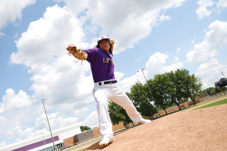 Photo by Troy Banning, for The Messenger  Max Hackbarth of Webster City was named a first team all-state pitcher in Class 3A, the Iowa Newspaper Association announced on Monday.