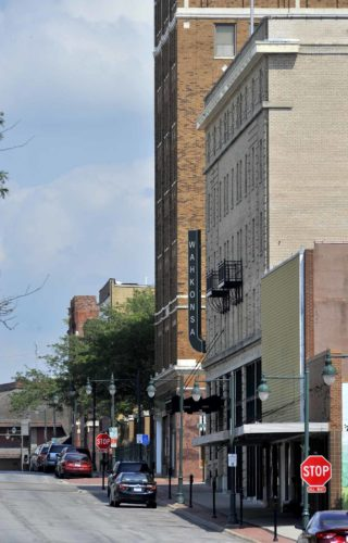 -Messenger photo by Hans Madsen  Fort Dodge earned its Main Street Iowa designation Wednesday.