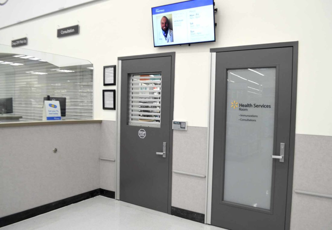 -Messenger photo by Peter Kaspari One of Walmart's recent renovations was the addition of a private consultation room at the pharmacy.