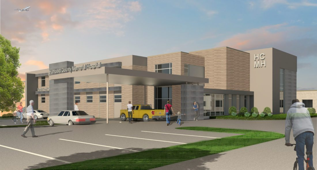 -Submitted graphic  This artist perspective shows what the future of Humboldt Community Memorial Hospital may look like once it launches the construction phase of the multimillion dollar project.