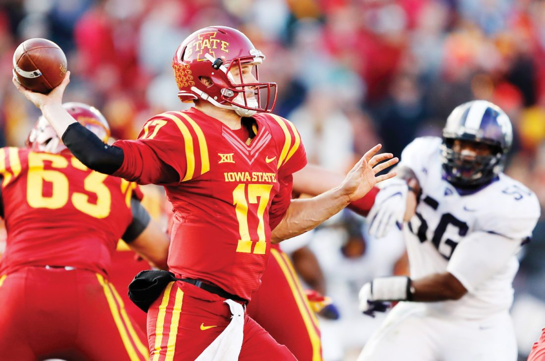 AP Photo  Iowa State quarterback Kyle Kempt throws a pass against TCU on Saturday in Ames.