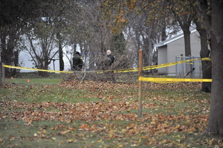 -Messenger file photo by Hans Madsen  Humboldt police officers and Humboldt County sheriff's deputies are shown on scene of an officer-involved shooting Saturday afternoon.