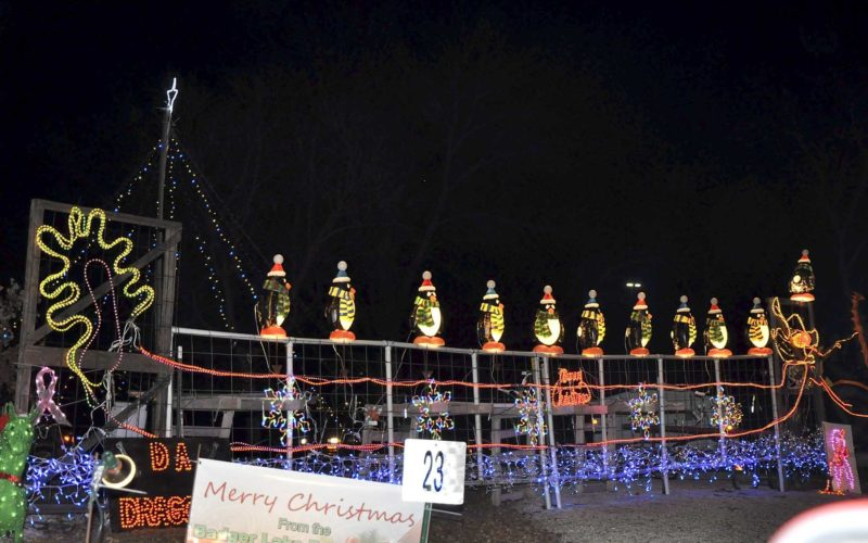 -Messenger file photo by Peter Kaspari This display, from the Badger Lake Dragon Boat Association, lights up John F. Kennedy Memorial Park during the 2015 Lights at Kennedy event. This year's event begins Dec. 8.