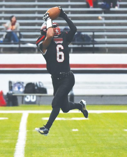 Messenger file photo by Britt Kudla  Trey Mosley makes a catch for Fort Dodge inside Dodger Stadium this season.