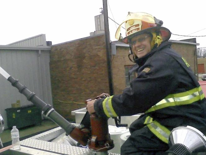 -Submitted photo  Algona is mourning the loss of its longtime Fire Chief Chuck Bell.