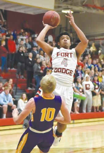 Messenger photo by Britt Kudla  Malcolm Clayton is a four-year starter for the Fort Dodge boys.