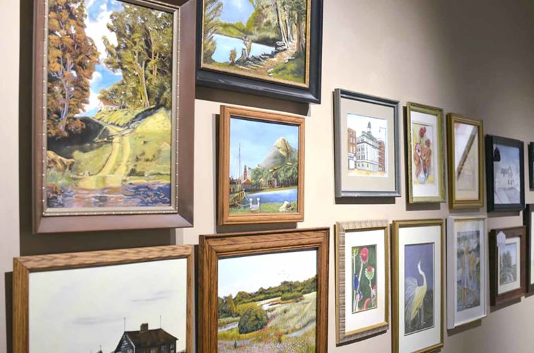-Submitted photo  The Blanden Memorial Art Museum's holiday open house will feature a silent auction that includes original artworks.