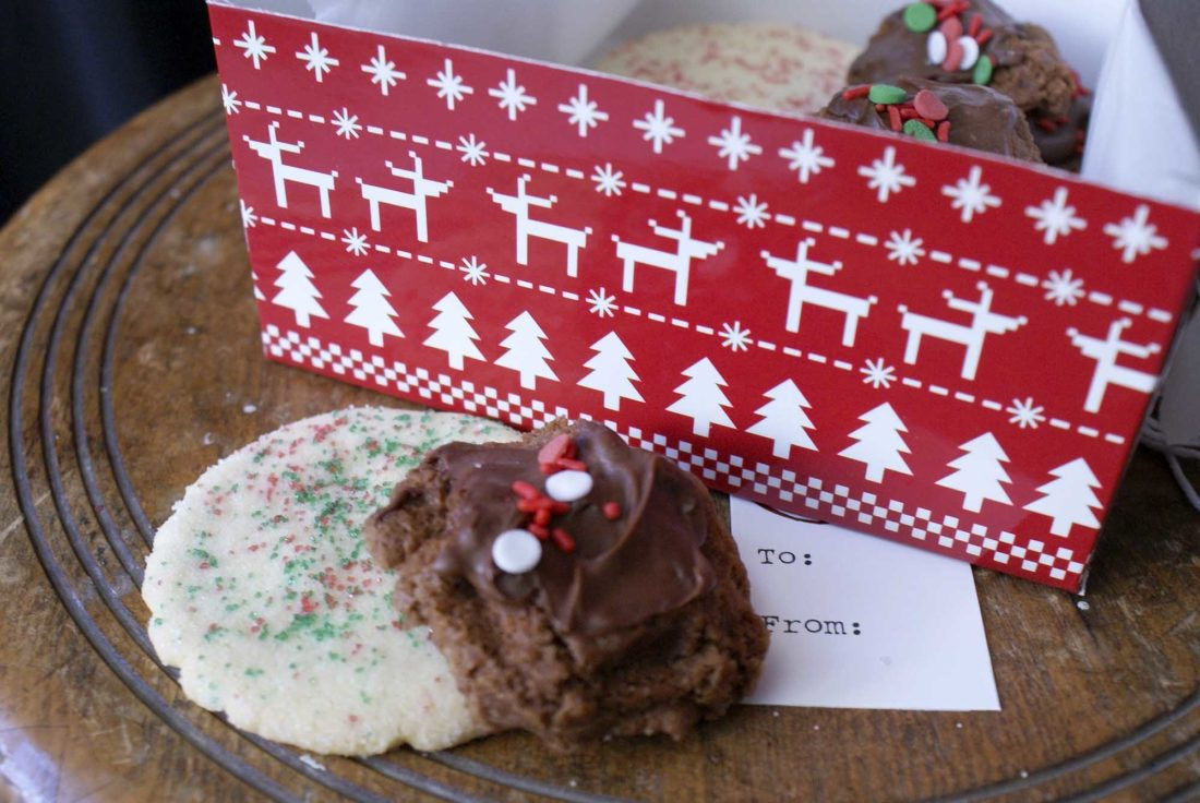 -Messenger photo by Dawn Bliss  Holiday cookies are nestled in a box ready to be given as a gift this season.