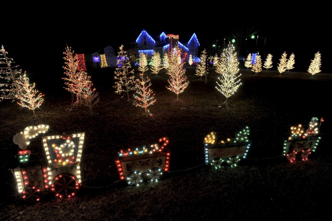 -Messenger photo by Hans Madsen  The Messenger's 12 Days of Christmas continues with this display at the Lance and Melanie Jordison residence just north of the junction of U.S. Highway 20 and Webster County Road P59. The lights are always a welcome sight for visitors and residents returning to Fort Dodge and a nice sendoff to those traveling. To nominate a display, call 573-2141, ext. 472, or email hmadsen@messengernews.net.