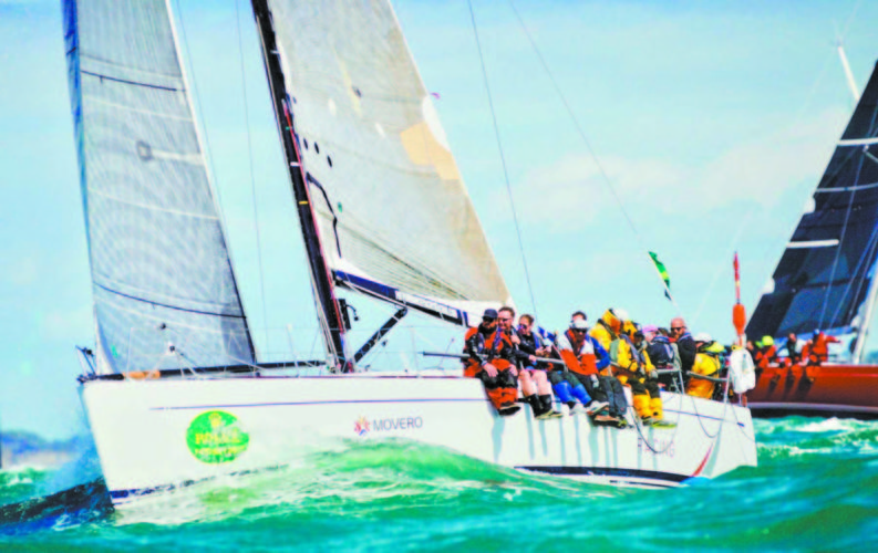 -Submitted photo  TOP: This is the yacht Jua Kali as the start of the 2017 Fastnet Race. After a classic starboard start with 65 yachts, Jua Kali was driven toward shore and up the Isle of Wight's north shore.