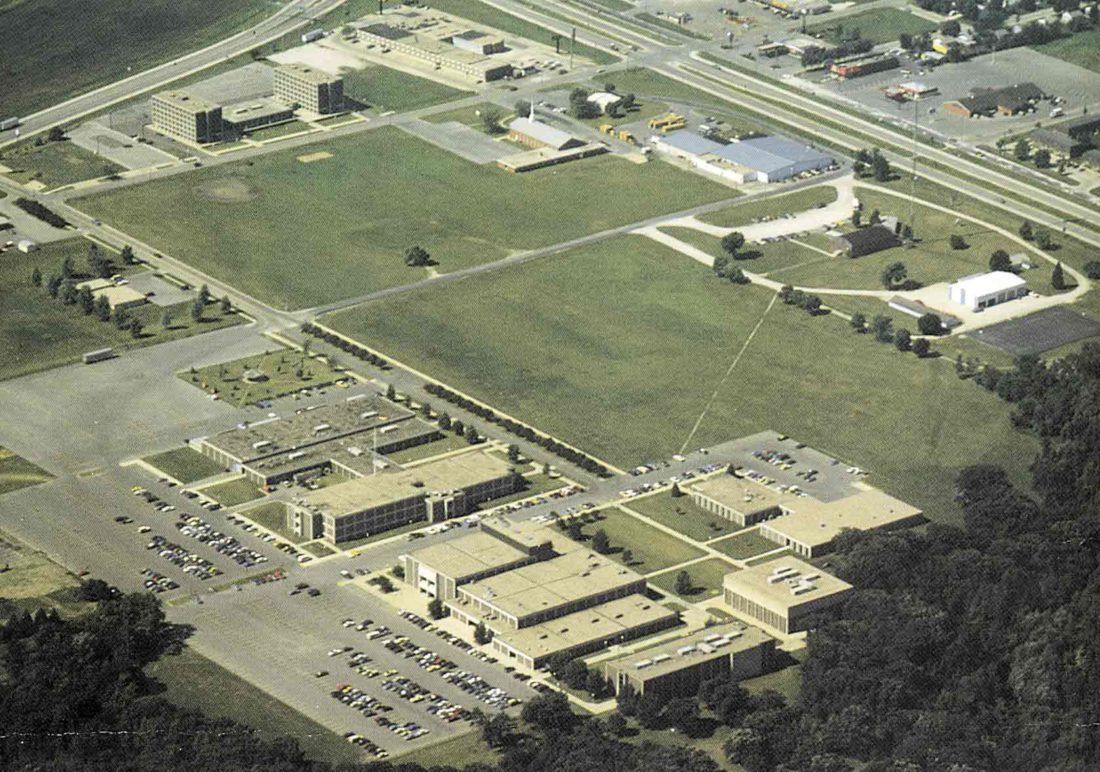 -Messenger archive photo  The Iowa Central Community College Fort Dodge campus is pictured in an aerial view that dates to the early 1980s.