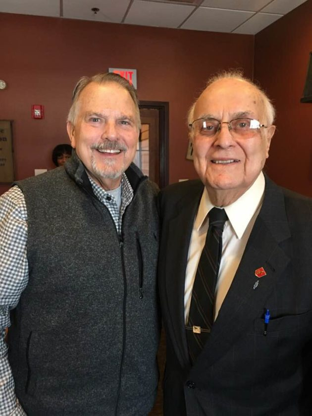 -Submitted photo  Former state Sen. Daryl Beall, of Fort Dodge, left, and retired judge and former Fort Dodge Mayor Albert Habhab were two people who manned shovels when ground was originally broken for the Iowa Central Community College campus in Fort Dodge.