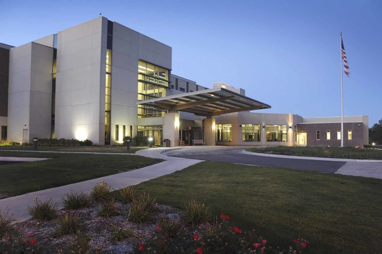 -Submitted photo  An entrance to the UnityPoint Health — Fort Dodge site is pictured at dusk.