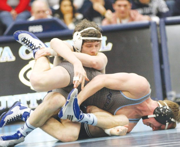 Photo by Paul DeCoursey  Riley Palmer of Iowa Central will compete at 149 pounds in a district meet on Sunday inside Hodges Fieldhouse.