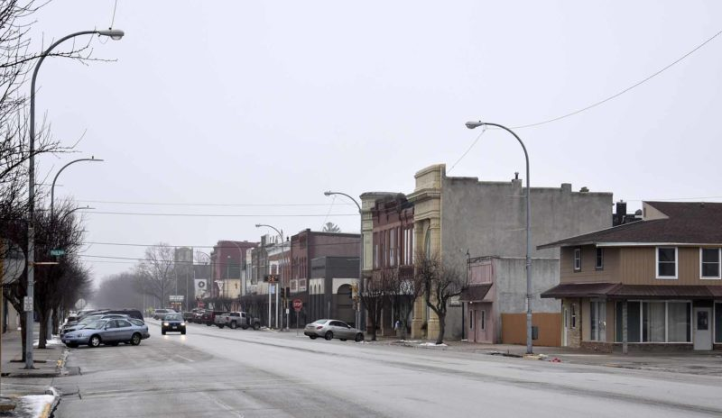 -Messenger photo by Chad Thompson  Downtown Eagle Grove along West Broadway Street is shown here.