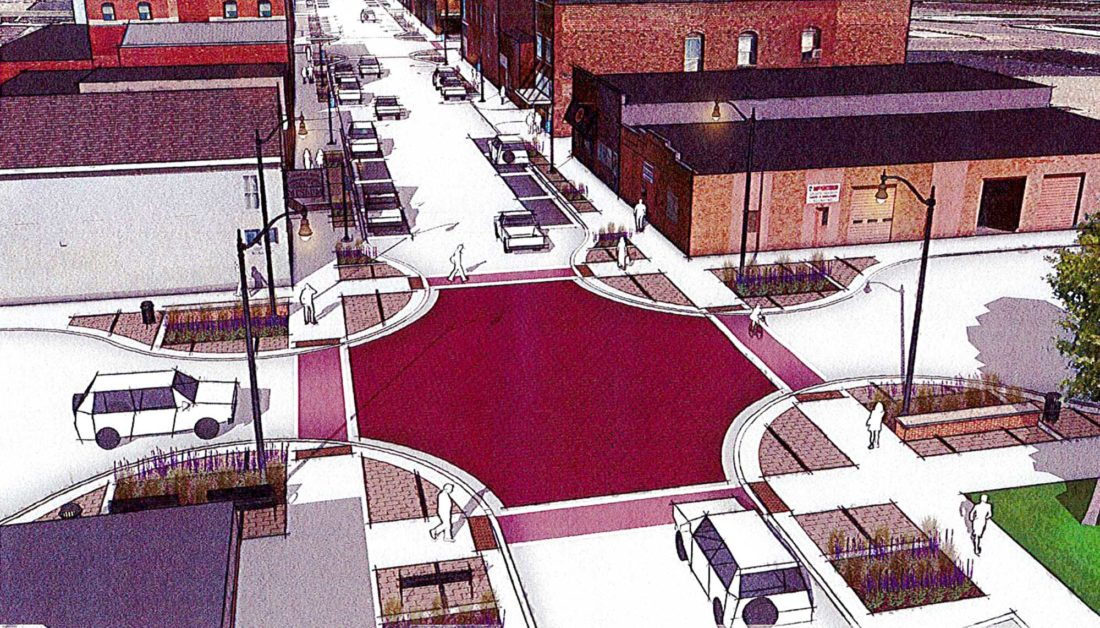 -Submitted graphic  A section of Dodge Street in Algona could look something like this when the project is complete.