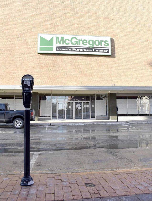 Delicieux The McGregors Furniture Store In Fort Dodge Will Be Closing. Management  Said Parking At Meters Downtown Was A Factor.