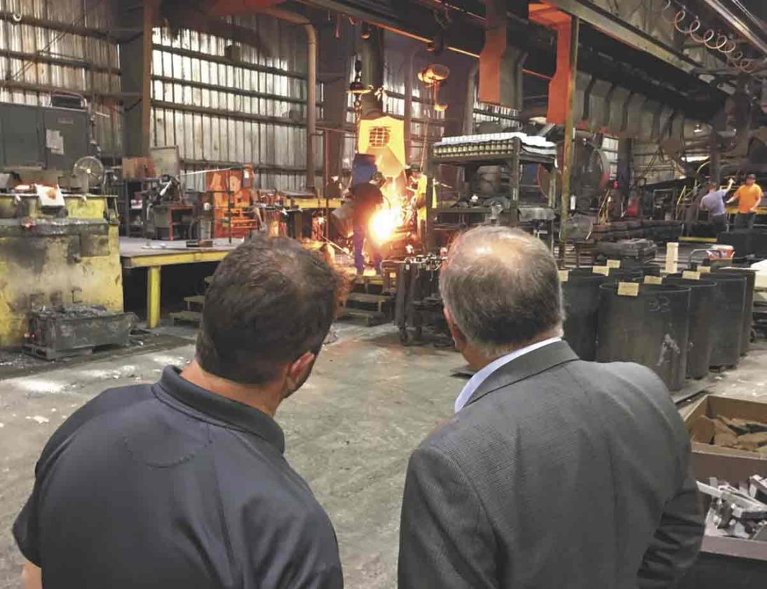 In Webster City, King shares tariff concerns during foundry visit