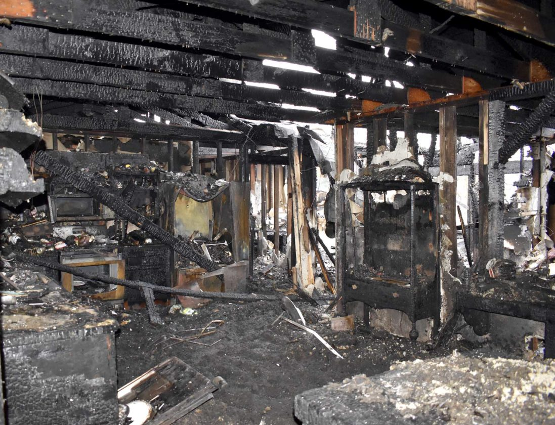 Family Escapes Fire That Destroys Rural Eagle Grove Home News Electrical Wiring Items A Cabinet Belonged To Tiffini Tolivers Father Was Among The Many Sentimental Possessions Lost After Fully Enfulfed Their Early