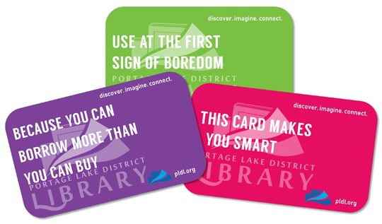 Library seeks help in card redesign process news sports jobs photo provided by portage lake district library these images show samples of the new library card design for the portage lake district library colourmoves