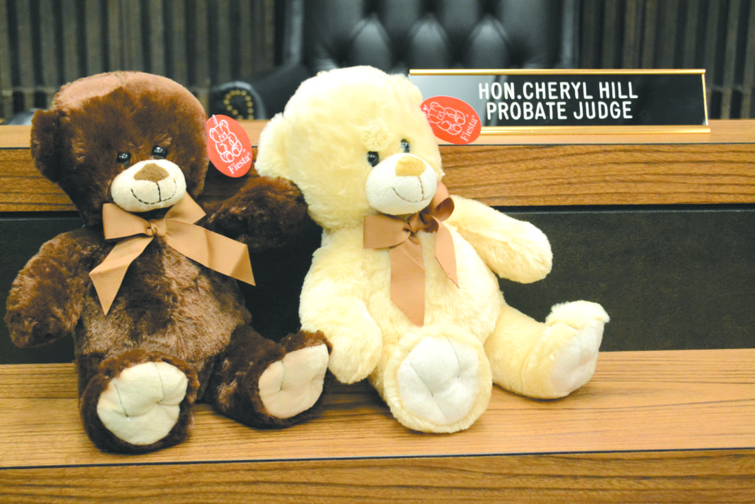 Probate court celebrates michigan adoption day news sports jobs two teddy bears sit on the stand at the marquette county probate court tuesday in celebration of michigan adoption day probate judge cheryl hill said the solutioingenieria Images