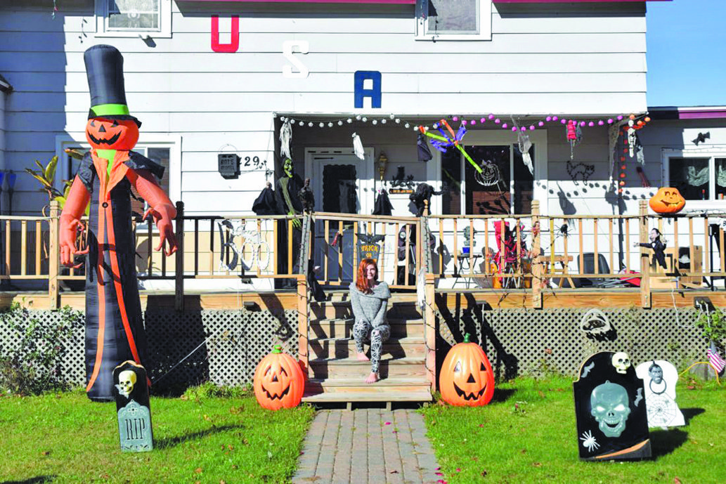 Escanaba Resident Autumn Stemick Is Pictured Amongst Some Of Her Familyu0027s  Halloween Decorations. Stemick Said Her Family Started Decorating Their  Home For ...