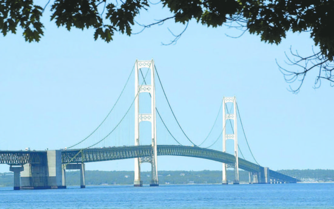 Falling Ice Prompts Closure Of Mackinac Bridge