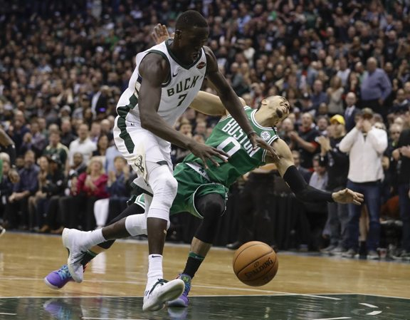 Celtics overcome Bucks in game seven; Warriors thump Pelicans to open series