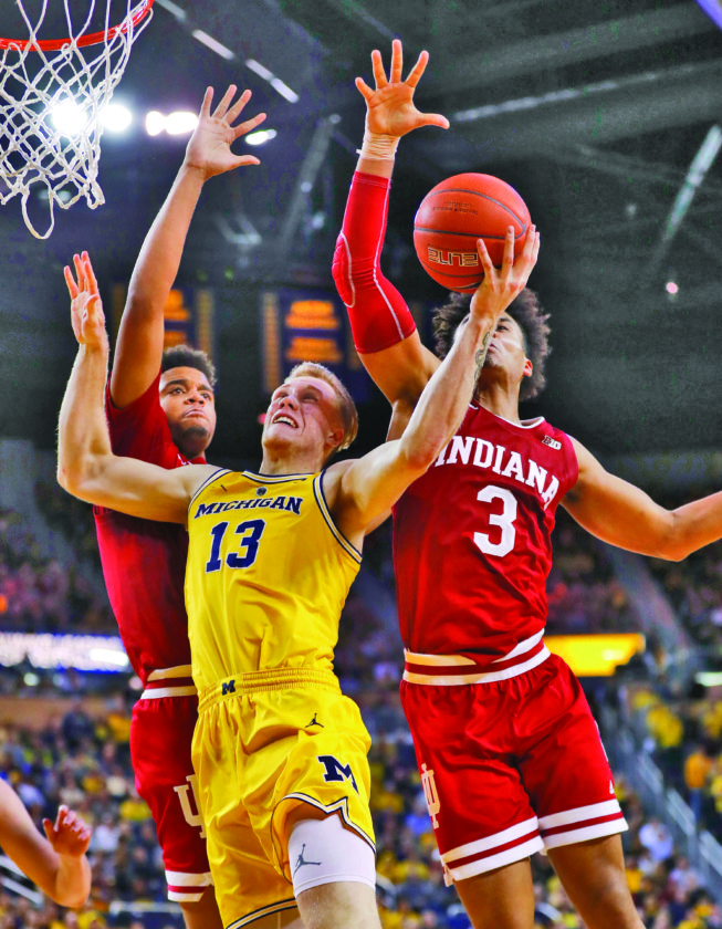 Hoosiers Fall To Wolverines 74-63