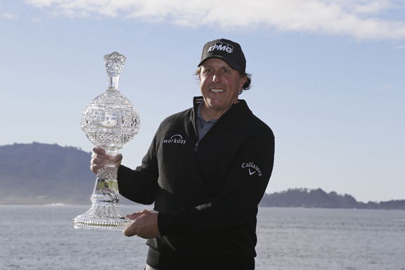 Phil Mickelson cruises to fifth Pebble Beach win