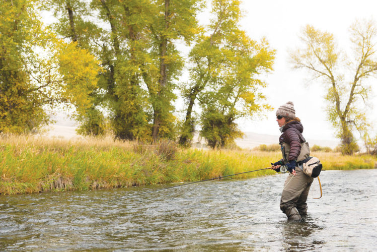 APPhoto  Erin McCleary fishes a small stream near Butte, Mont. With fall comes some of the best fly-fishing of the year where anglers will find a reprieve from the summer crowds, chances at big trout and some fine dry fly fishing opportunities.