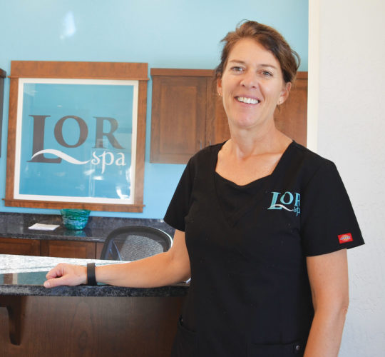 Eloise Ogden/MDN Teri Foley is  manager of LOR Spa in Minot.