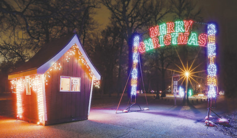 Submitted Photo Oak Park is glowing with Christmas magic and festive lights. Proceeds from the holiday event goes toward the continued activities and community service of the Minot Sertoma Club.