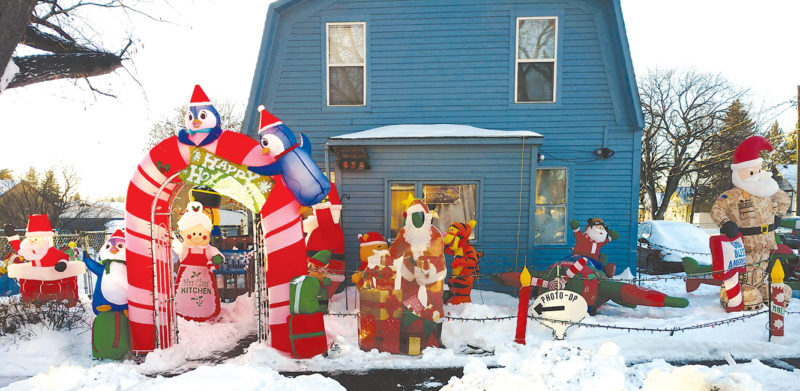 Submitted Photo Eugene and Nikki Paulsen, who live on Eighth Street NE in Minot, submitted these photos of their outdoor Christmas decorations.