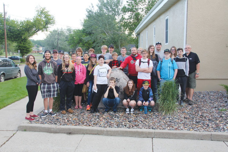 "Submitted Photo Minot Youth for Christ is seeking donations. The program is located at ""The Rock,"" pictured, which is at 318 5th Avenue NW in Minot. Minot Youth for Christ programming is attended by up to 100 kids each week. Some of the kids are pictured here."
