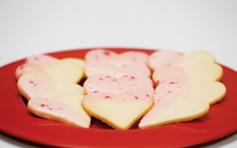 Forum News Service   Shortbread cookies are made with a traditional recipe but dipped in a frosting with fresh raspberries and lemon juice.