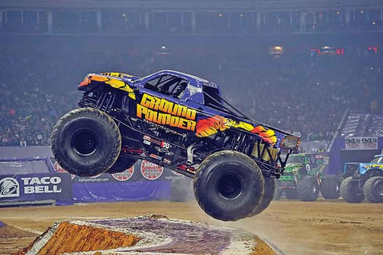 "Submitted Photo     Mind-blowing power matched with bodacious stunts will be featured at All Seasons Arena, as ""Monster Truck Thunder"" comes to the Magic City Saturday, March 4, at 2 p.m. and 7:30 p.m.     Throughout this destructive celebration, monster truck enthusiasts can witness 5-ton machines ascend 30 feet into the air before crushing cars with their colossal tires.    In addition to witnessing the steady splatter of dirt and mud, tuff trucks and quad racers will be available for locals.    To learn more about ""Monster Truck Thunder"" or purchase tickets, visit www.monstertruckthunder.com."