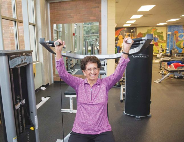 APPhoto  Betty Wilkins, 88, works out Feb. 20, at CSI in Twin Falls, Idaho. Surrounded by college boys 70 years younger than her, Wilkins used weight machines on a dreary, overcast Monday morning.