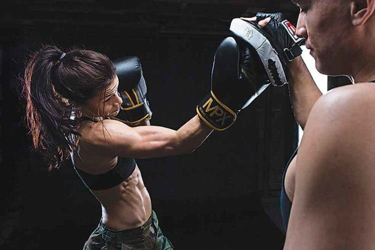 SubmittedPhoto   Fargo native Mariah Prussia looks to add another victory to her 5-2 record as she  battles Alexa Connors during Fight Night at  4 Bears Casino & Lodge, Saturday.