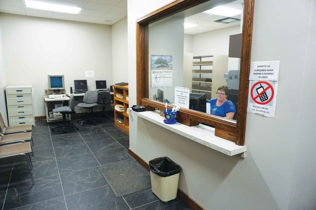 Jill Schramm/MDN The district court office has added new space and a new entrance in a portion of the Ward County Courthouse that once housed the Register of Deeds office.